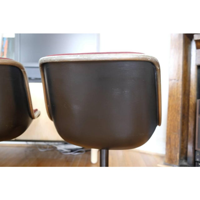 Charles Pollock Knoll Armless 4 Star Base Side Chairs- Set of 3 - Image 5 of 10