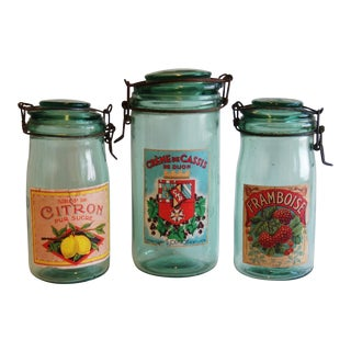French 1930s Canning Preserve Jars - Set of 3