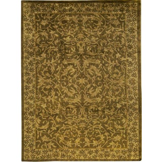 Transitional Hand Woven Rug - 8′11″ × 11′9″