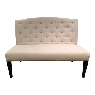 Buttoned Camel Back Banquette