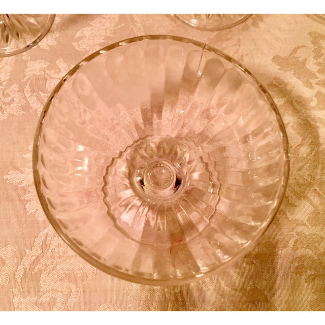 Mid-Century Ribbed Champagne Coupes - Set of 4 - Image 7 of 7
