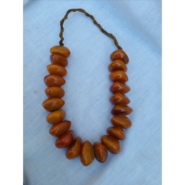 African Amber Bead Necklace - Image 2 of 5