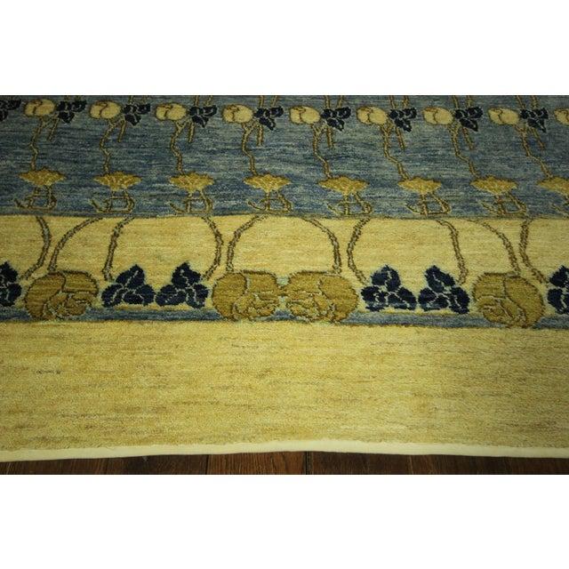 Super Gabbeh Blue Wool Rug - 9' x 12' - Image 5 of 10