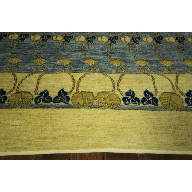 Image of Super Gabbeh Blue Wool Rug - 9' x 12'