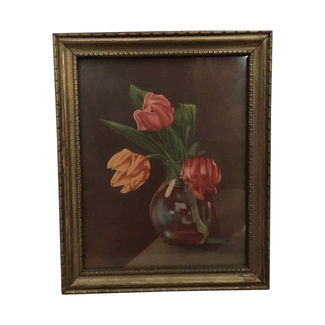 """Tulips in Vase"" Painting - Image 1 of 5"