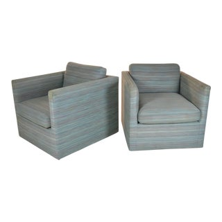 Pair of Cube Chairs by Charles Pfister for Knoll