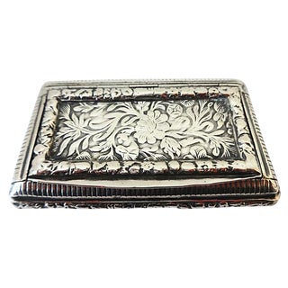 Parisian Silver Snuff Box, C. 1820