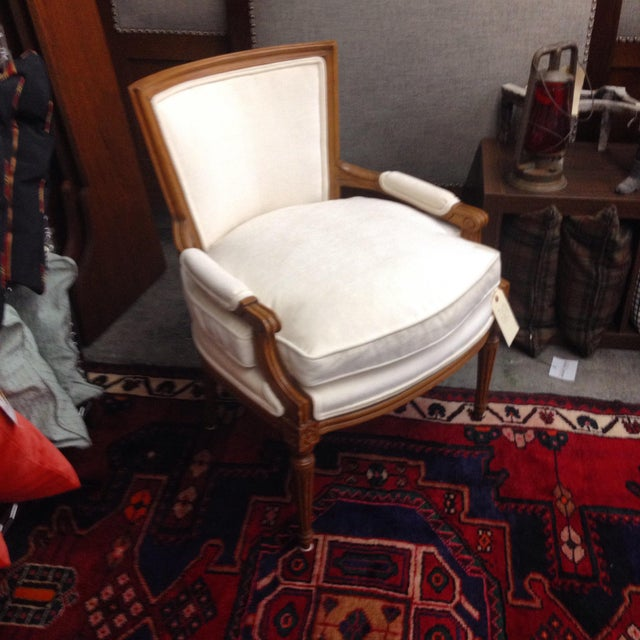 Image of French Louis XVI Bergere Armchair