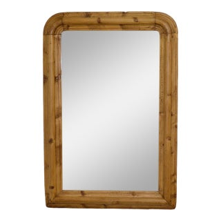Antique Pine Framed Mirror