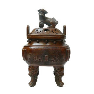 Chinese Metal Handcrafted Ding Incense Burner