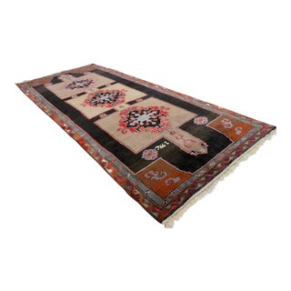 Hand Knotted Turkish Kars Runner Rug - 6′ × 14′2″