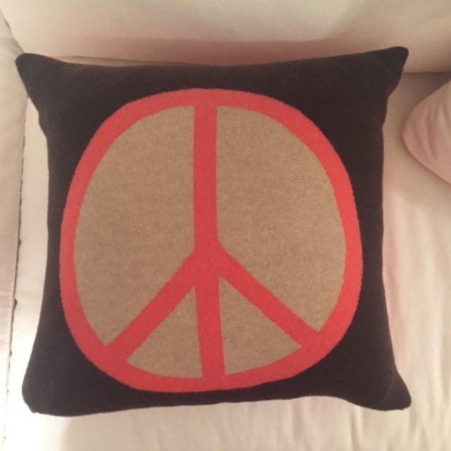 Rani Arabella Cashmere Peace Sign Pillow - Image 2 of 3