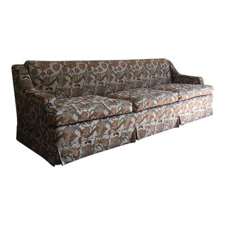 Vintage Eight-Foot Floral Sofa