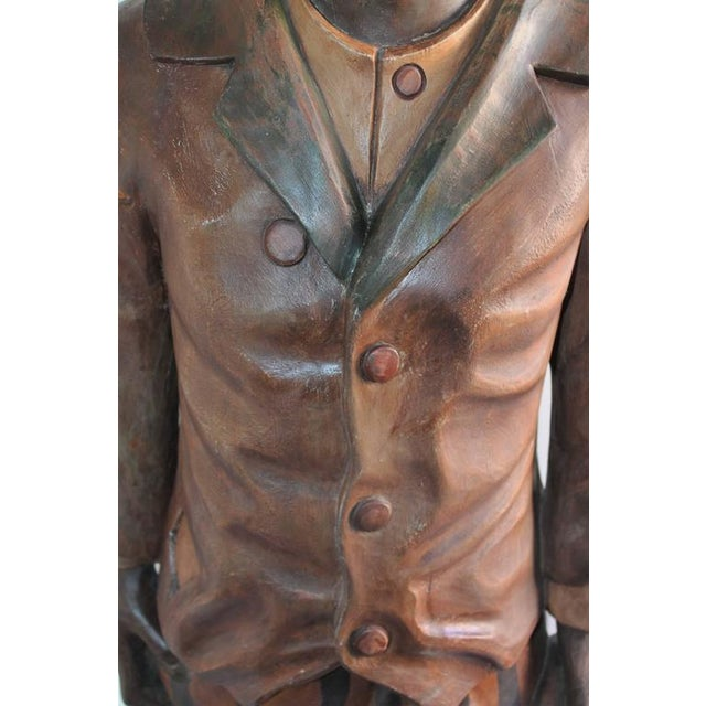 Hand-Carved and Painted 19th Century Cigar Store Figure - Image 7 of 10