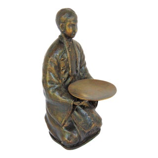 Bronze Asian Figure Candle Holder