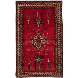 "Hamadan Vintage Persian Rug, 4'2"" x 7'1"""