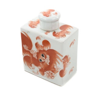 Chinese Antique Calligraphy Porcelain Bottle