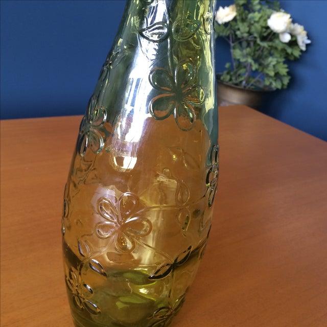 Green Glass Flower Vase - Image 4 of 10