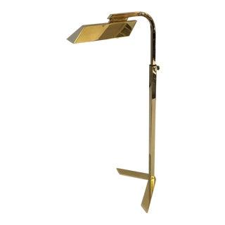 Adjustable Brass V Floor Lamp by Charles Hollis Jones