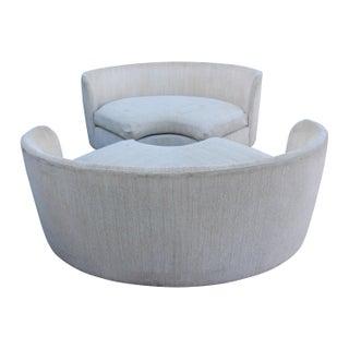 Curved Circular Henrendon Sofas - Pair