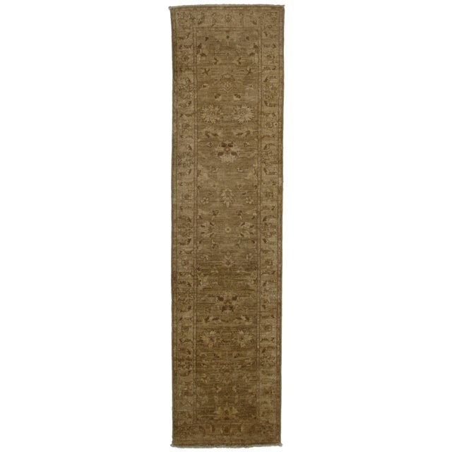 """RugsinDallas Oushak Style Hand-Knotted Wool Runner -2'5"""" X 9'8"""" - Image 2 of 2"""