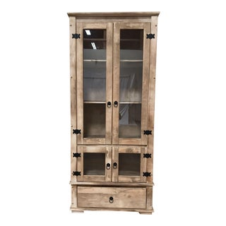French Provincial Solid Wood Display Cabinet