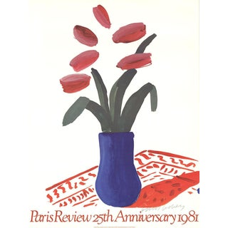 David Hockney-Paris Review 25th Anniversary-1980 Offset Lithograph-SIGNED