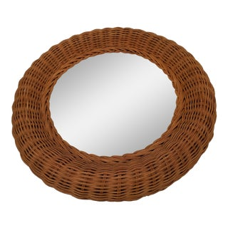 Bamboo & Rattan Circular Mirror