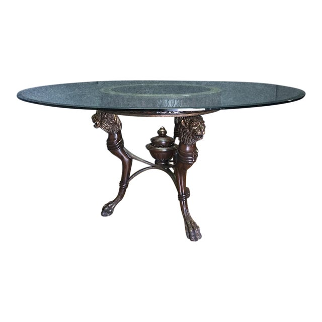 Regency-Style Glass Top Table - Image 1 of 11