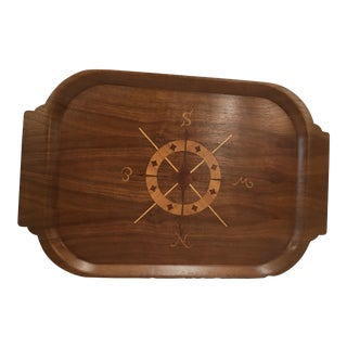 Mid-Century Modern Bentwood Compass Rose Tray