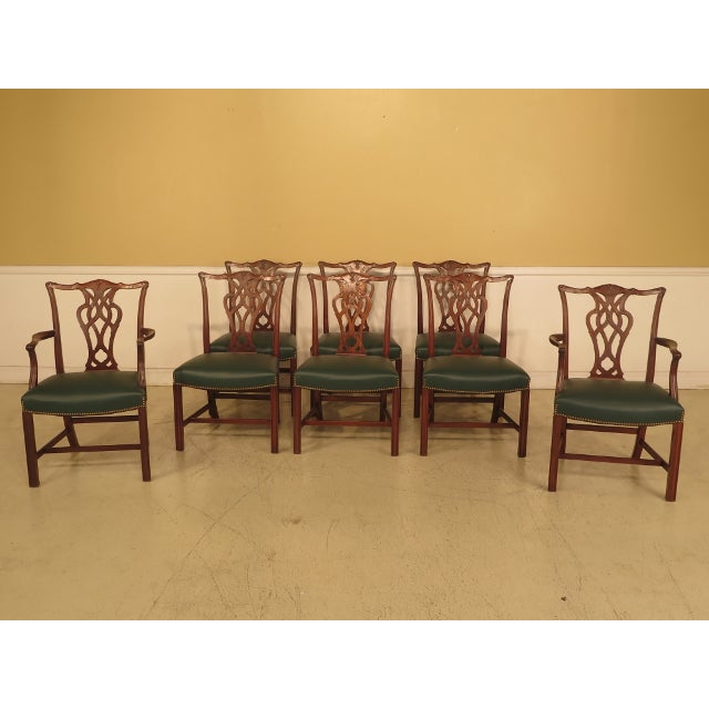 Chippendale Mahogany Dining Room Chairs - Set of 8 - Image 11 of 11