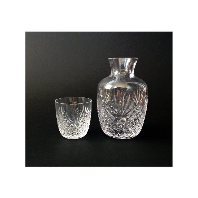 Image of Vintage Crystal Cut Glass Bedside Carafe