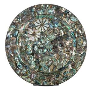 Los Castillo Silver & Abalone Inlaid Dish