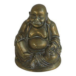 Vintage Brass Seated Buddha