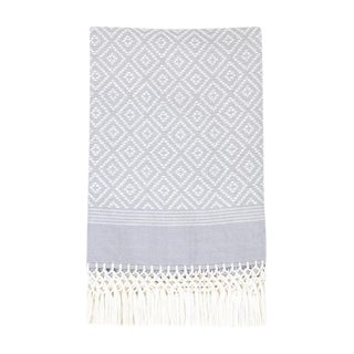 Gray Diamond Handwoven Throw