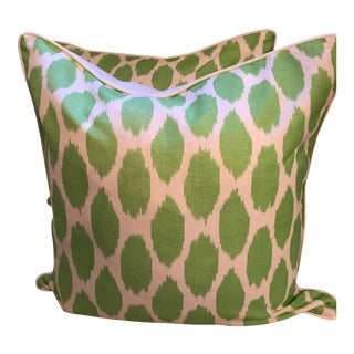 Quadrille Adras Soft Jungle Green Pillows - A Pair