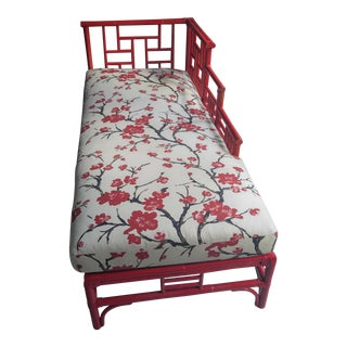 Rattan Chinese Chippendale Chaise