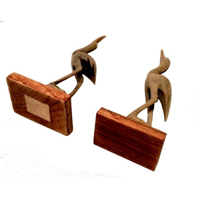 Carved Horn & Bone Bird Sculptures - Set of 4 - Image 5 of 7