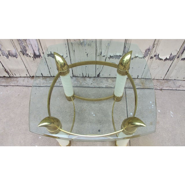 Image of 1970's Designer Faux Tusk's Table
