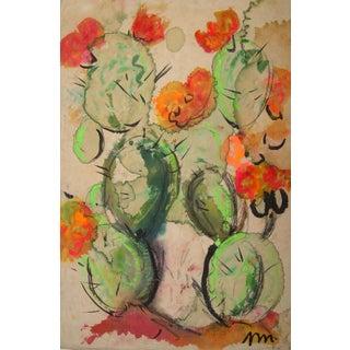 Josephine Mahaffey Mid-Century Cactus Painting