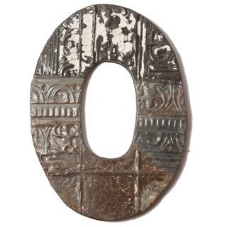 Ozark Folk Art Antique Tin Letter O