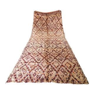 Vintage Moroccan Beni Ouarin Rug - 6′5″ × 11′11″