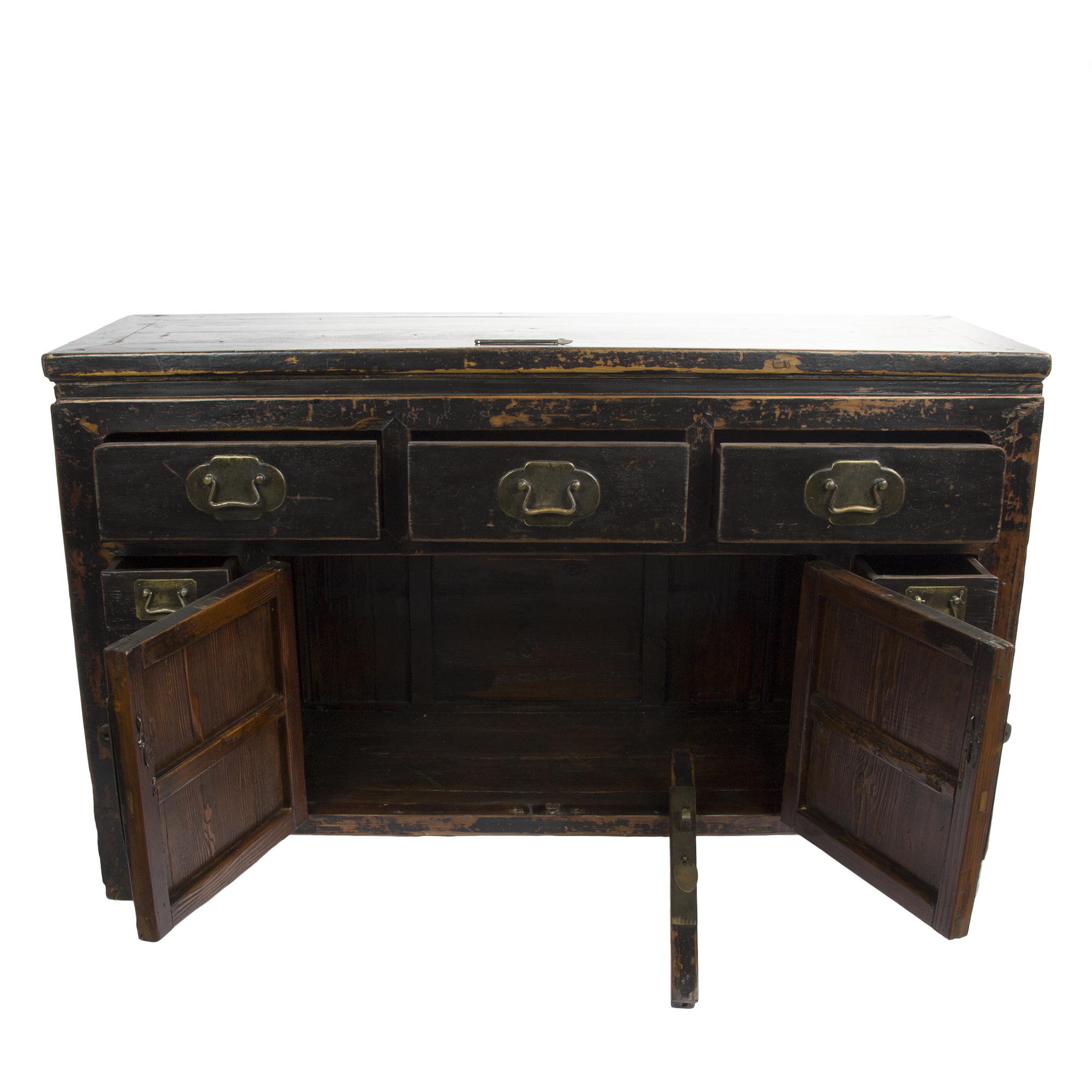 black distressed sideboard distressed asian sideboard in black chairish 1677