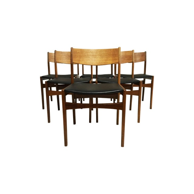 Mid-Century Poul Volther Teak Chairs - Set of 6 - Image 1 of 6