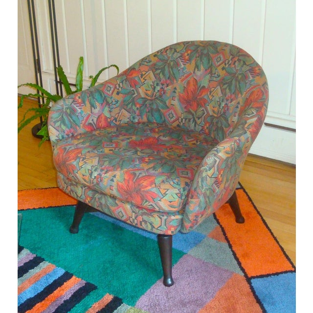 Mid Century Modern Swivel Barrel Chair Chairish
