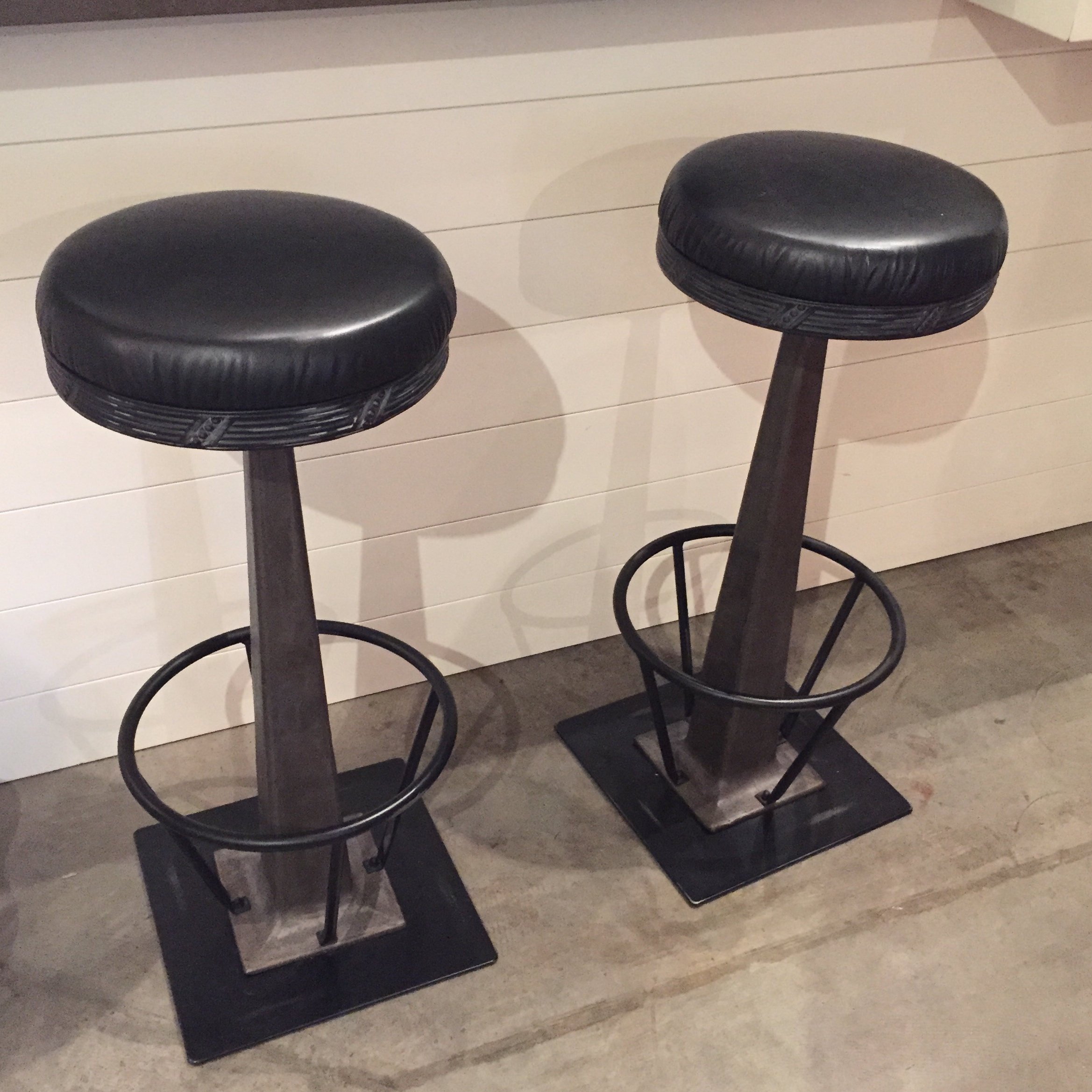 Image of th C Soda Fountain Stools A Pair