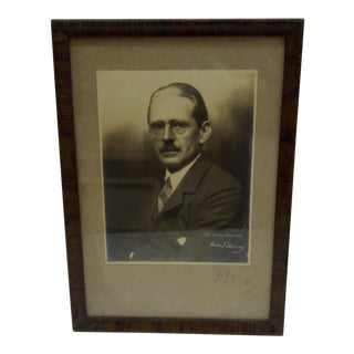 """1935 Vintage """"Theodore Steinway"""" Black & White Signed Photograph"""