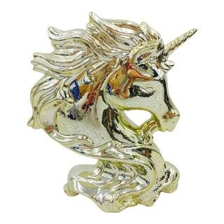Gold Ceramic Unicorn