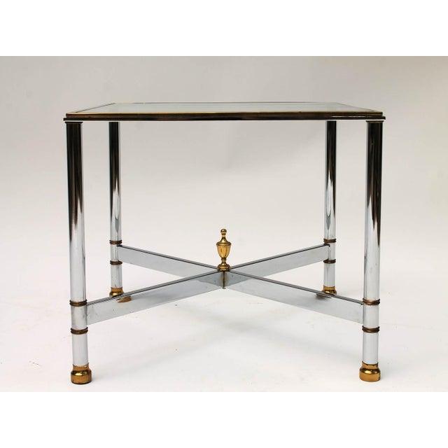 Petite Brass & Steel Side Table - Image 2 of 8
