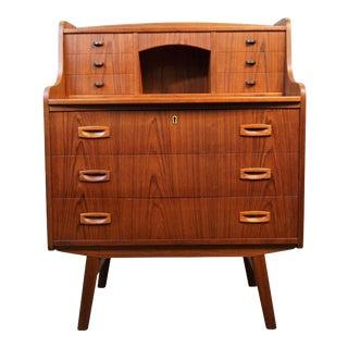 "Danish Modern Teak Secretary Dresser - ""Benny"""